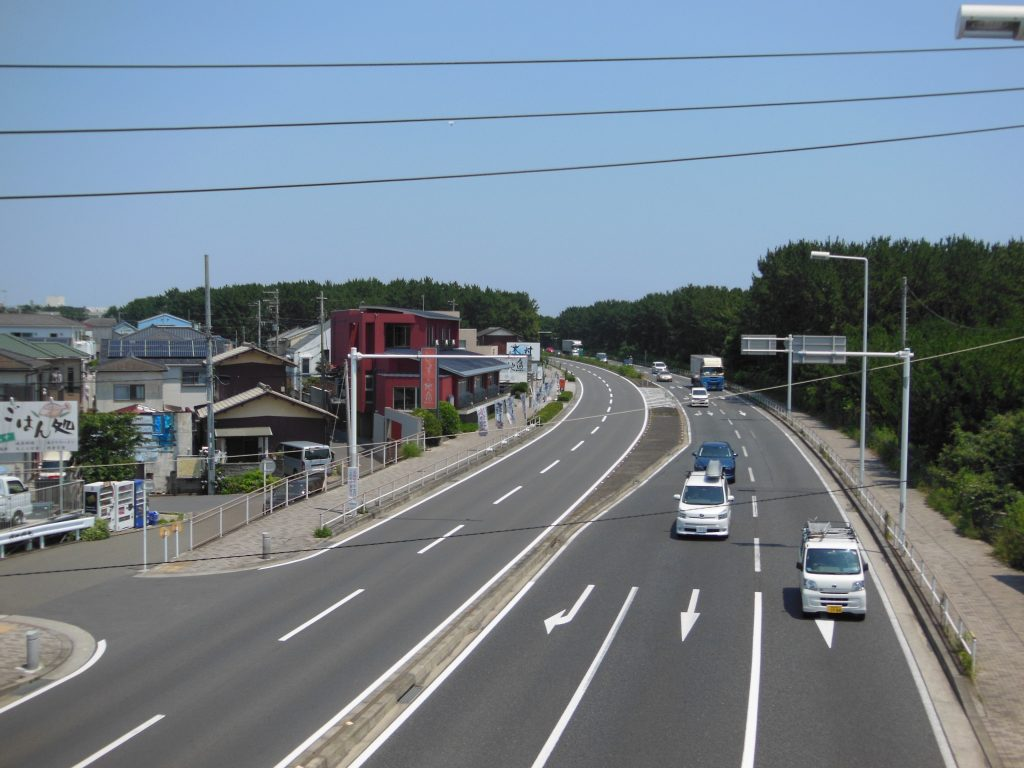 国道134号線・柳島付近