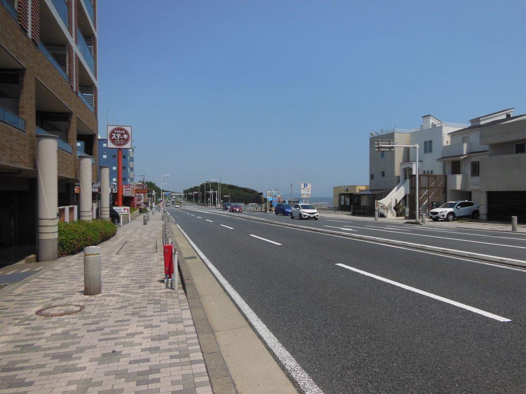 国道134号線・茅ヶ崎サザンビーチ付近