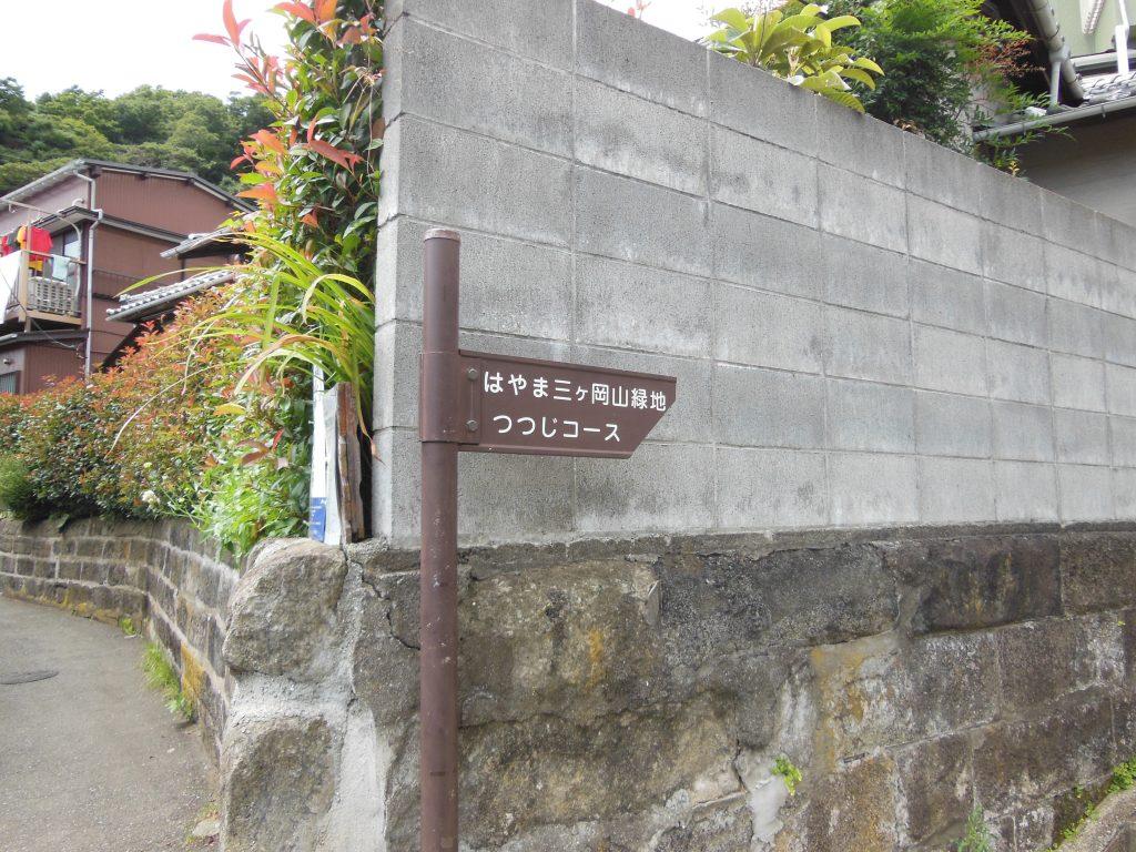 三か岡山緑地・つつじコース入口