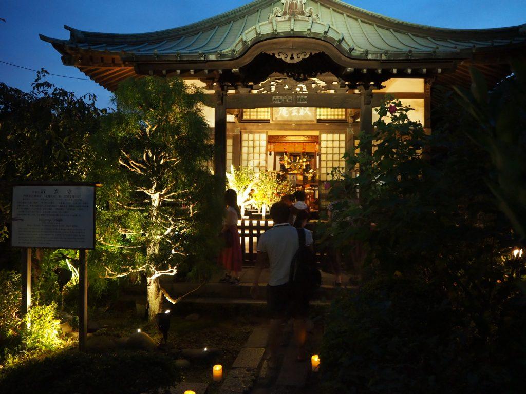 収玄寺のライトアップ