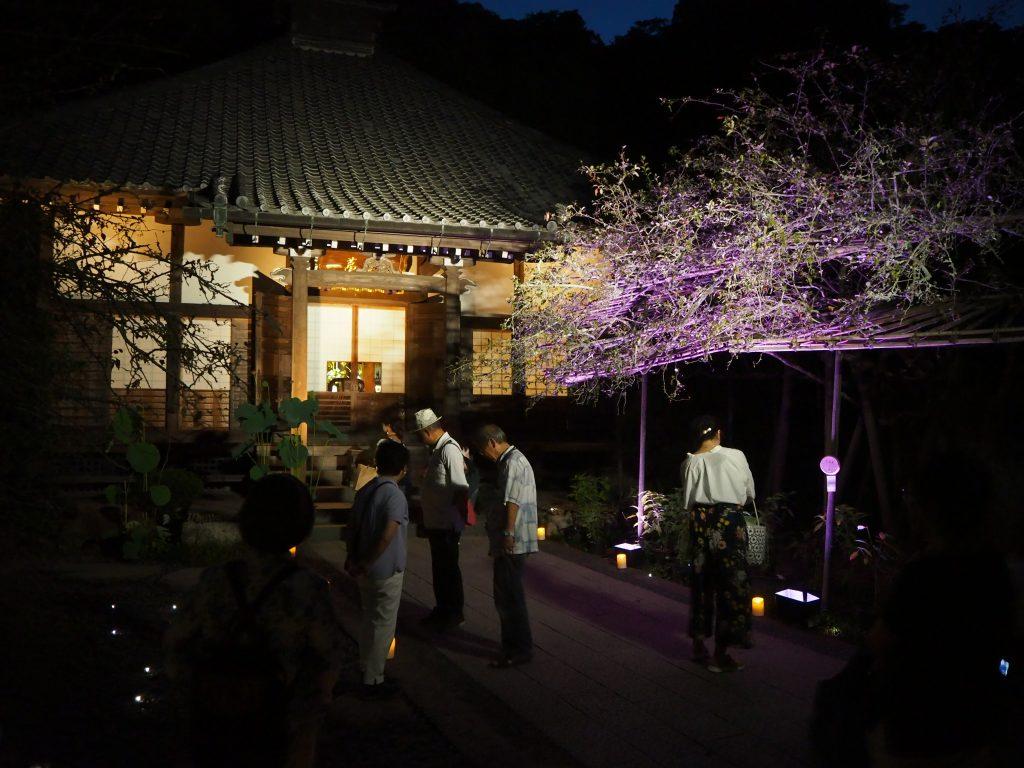 光則寺のライトアップ