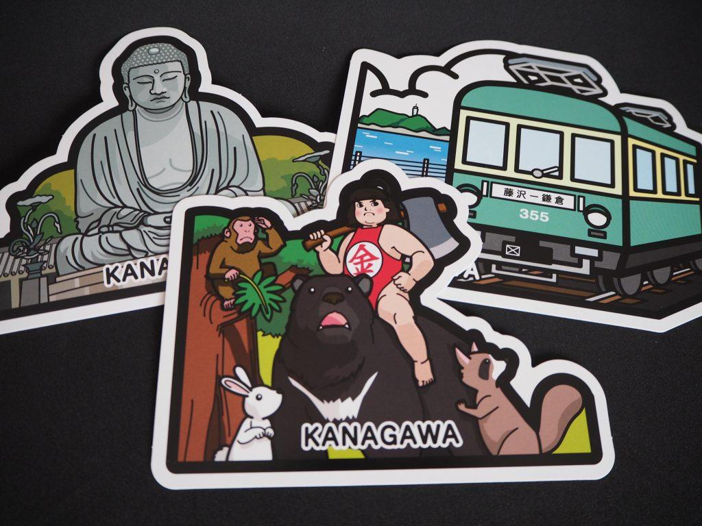 神奈川県フォルムカード(金太郎・鎌倉大仏・江ノ電)