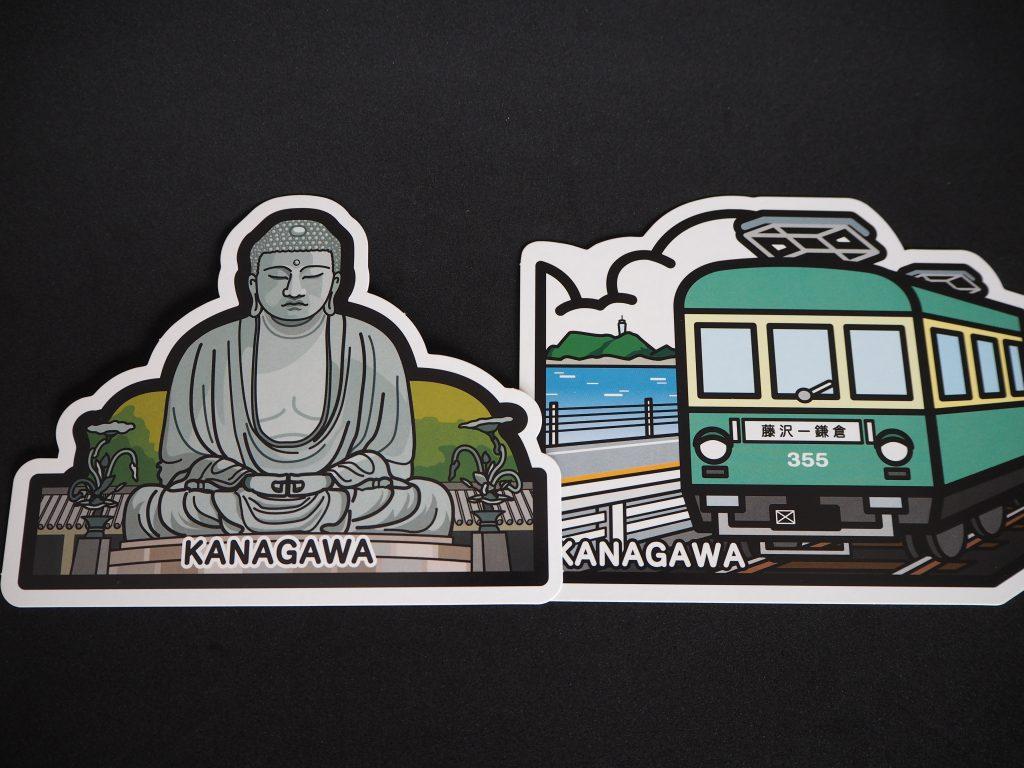 定番の鎌倉大仏と江ノ電