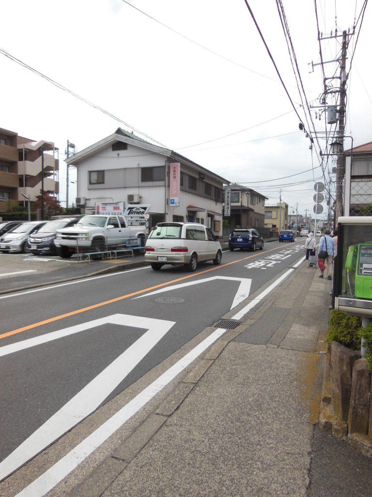 県道311号線を鎌倉駅方面へ