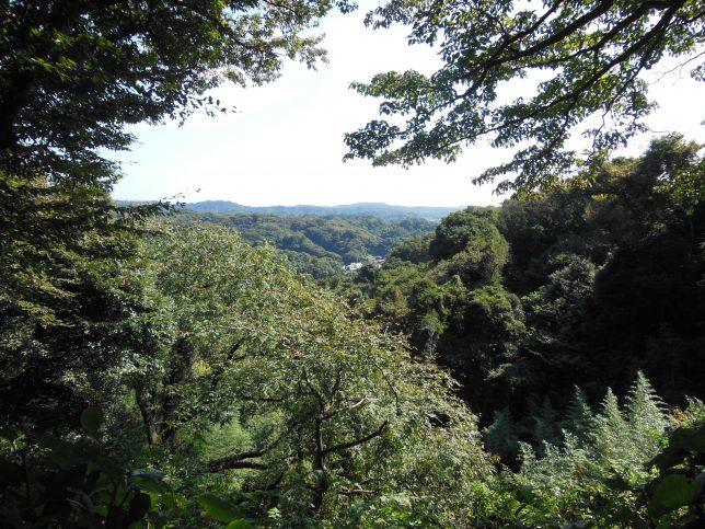 葛原岡神社の駐車場からの眺め