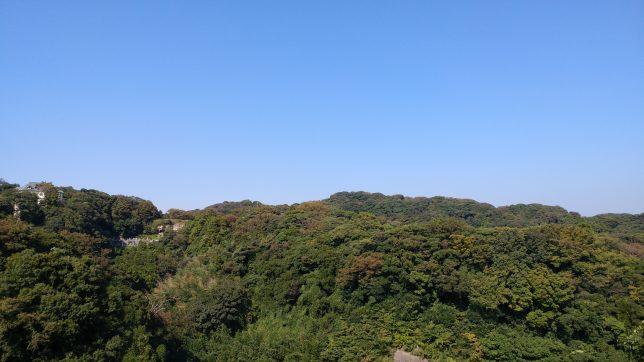 小坪地区から望む山並み