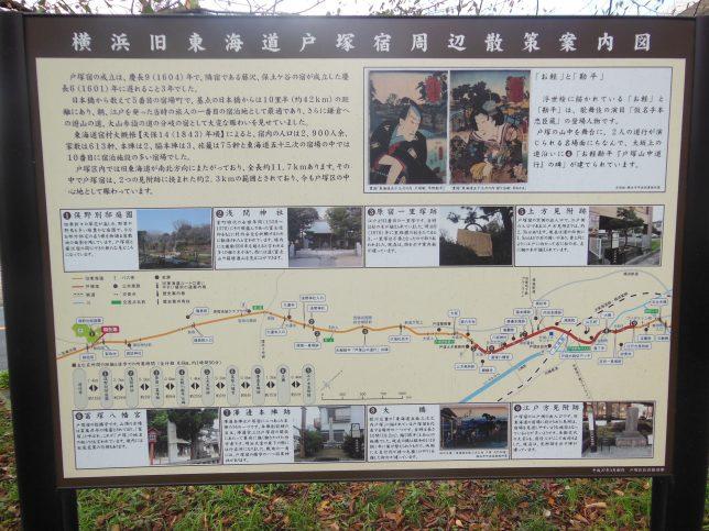 旧戸塚宿周辺の案内板