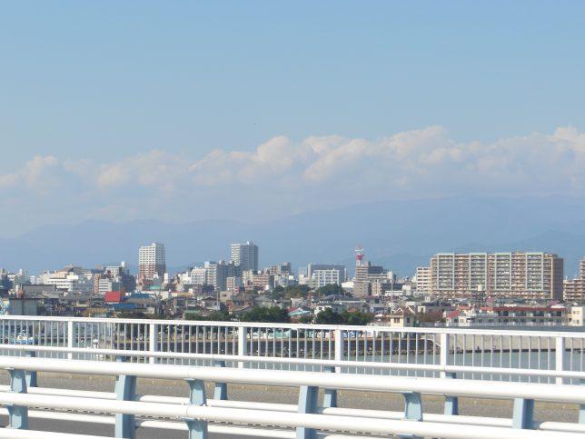 湘南大橋から平塚市街を臨む
