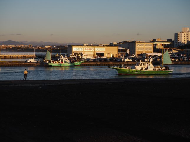 片瀬漁港からは釣り船が出港