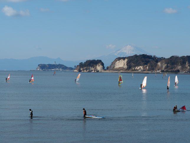 和賀江嶋付近から臨む富士山