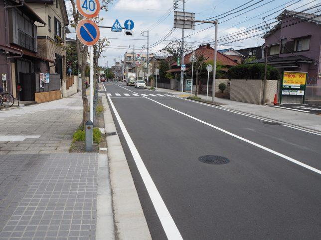 洲崎町を称名寺方面に歩く