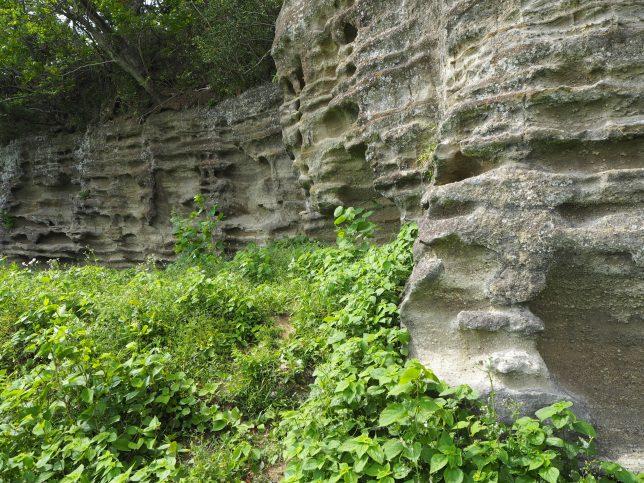 石切の跡が残る
