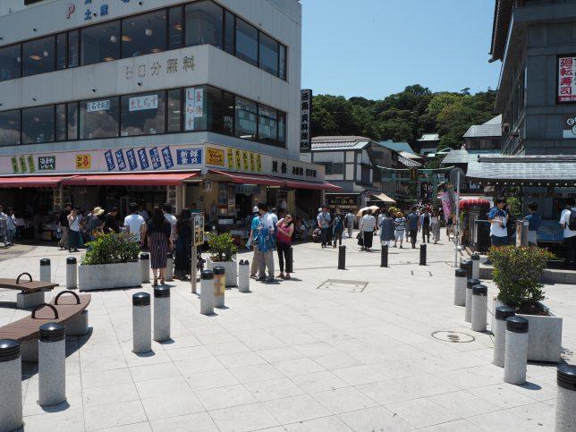 江の島・表参道前に到着