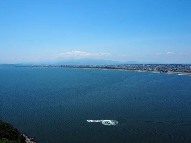 茅シーキャンドルからの茅ヶ崎方面の眺め